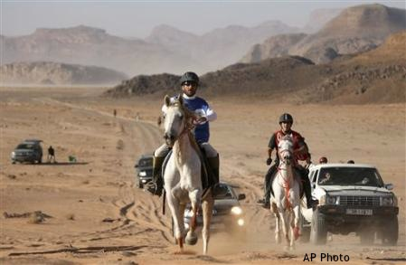 Long, hot kilometres in the desert
